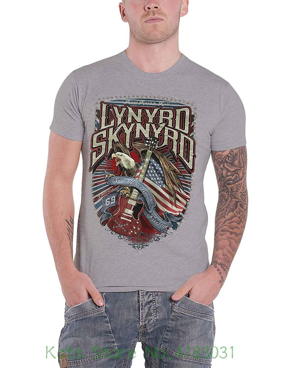 c94f70b6 Lynyrd Skynyrd T Shirt Sweet Home Alabama Band Logo Official Mens Grey  Summer Fashion Offensive T Shirts Sports T Shirts From Linnan0007, $14.67|  DHgate.Com