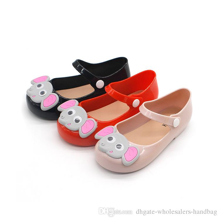 b23d2e920f74 2018 New Girls Jelly Shoes Cartoon Elephant Children Sandals Cute Girls  Baby Jelly Sandals Infant Kids Sweet Princess Shoes Beach Shoes Boys Casual  Wear ...