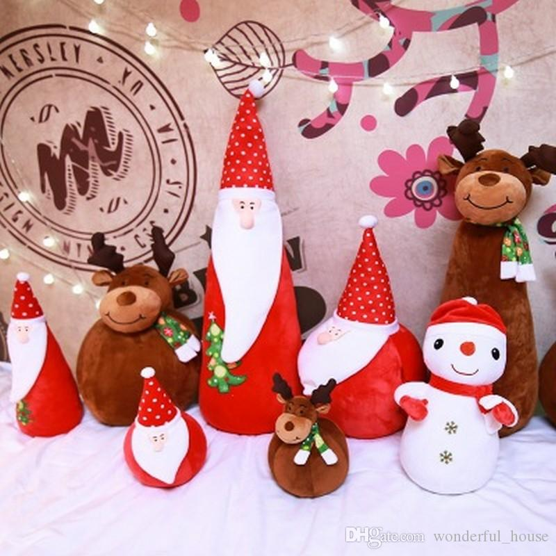 2018 christmas gifts stuffed santa claus toy cover 10 designs snowman moose doll give your girlfriend a baby gift warm hand dhl from wonderful_house - What To Give Your Girlfriend For Christmas