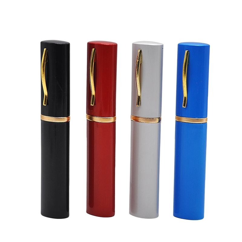 Metal Pipe Pen Container Hookah Shisha Aluminum Alloy High Quality Mini Smoking Pipe Tube Portable Unique Design Easy To Carry Clean