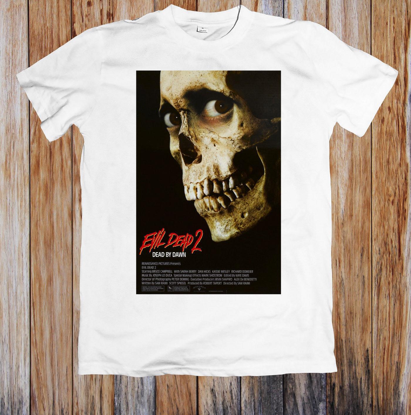 dbcc2364 EVIL DEAD 2 80'S RETRO MOVIE POSTER UNISEX T SHIRT 2018 High Quality Brand  Men T Shirt Casual Short Sleeve Funny Tee Shirts Mens T Shirt From  Hermestshirt, ...