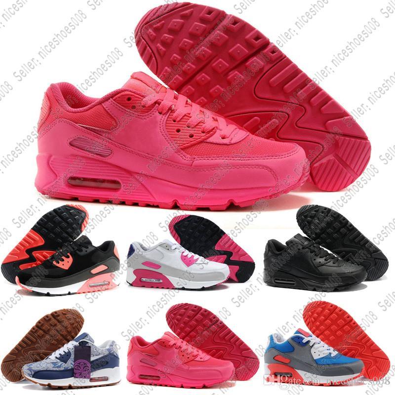 Scarpe Mizuno Nike Air Max Airmax 90 NOVITÀ 90 Scarpe Classiche 90 Donna MS  Scarpe Da Corsa Nero Rosso Bianco Sport Trainer Air Cushion Superficie ... 9f5c52f5db6