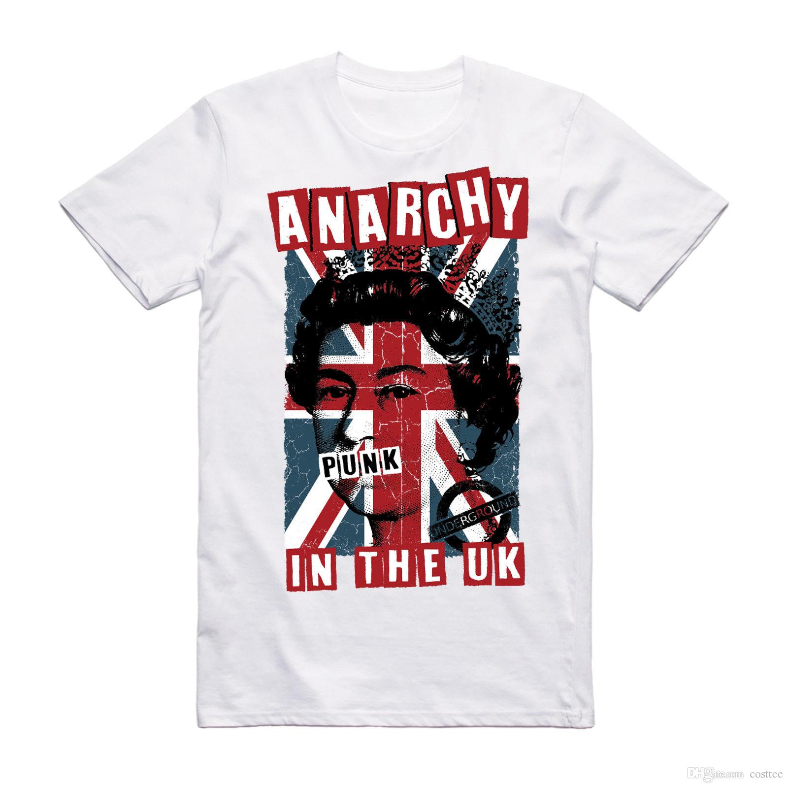 fabf9edc6db Anarchy In The UK Punk T Shirt Sex Pistols Music Tee Rock Festival Clothing  T Shirts Shopping Really Funny T Shirts From Costtee
