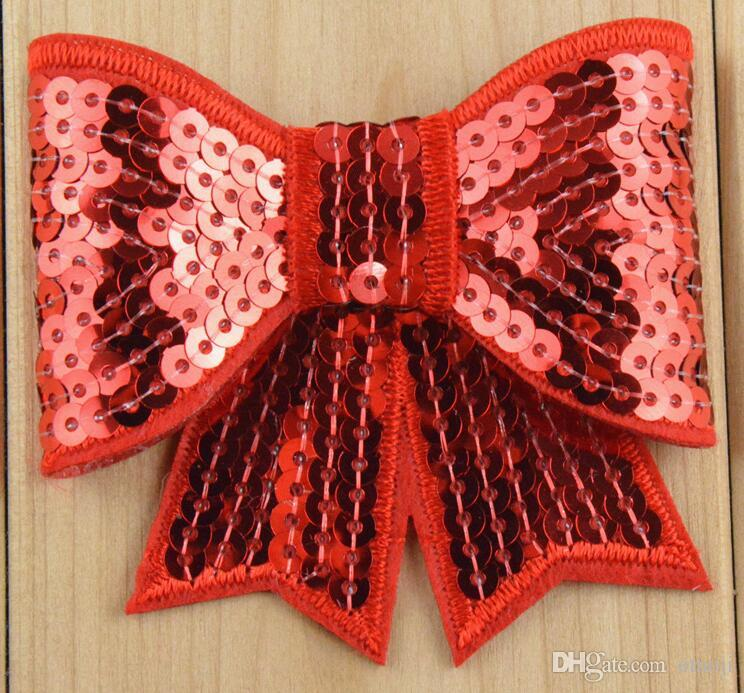 embroidery sequins Bows 3 inch DIY Bowknot for hairband headband kids Hair Accessories Hairpins Hair Clip Hair Sticks