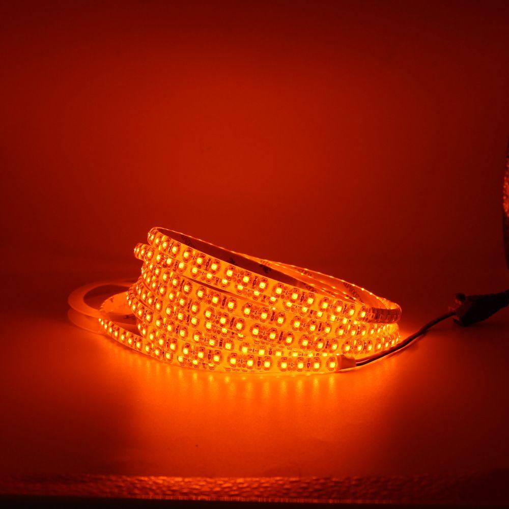best cheap 19b4c ec10a 1m 5m led strip light 600nm True Orange no Amber Yellow waterproof 3528 SMD  60leds/m 120leds/m christmas string tape lamp DC 12V
