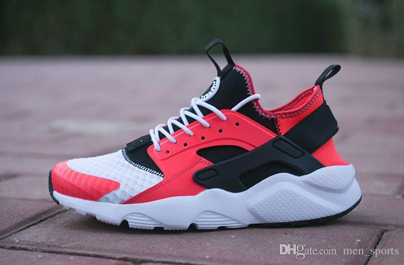 huarache 2020 جودة عالية 4 أحذية تشغيل لchaussures رجل إمرأة أسود أبيض أحمر رمادي احذية Huaraches رجل Sportsdes