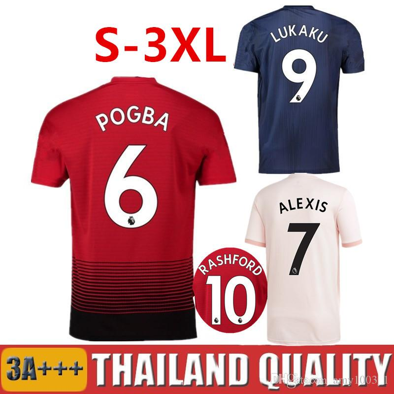 63acf89da 2019 18 19 LUKAKU POGBA Soccer Jersey 2018 2019 MATIC MARTIAL Football  Shirt MaN MATA ALEXIS UtD Camiseta RASHFORD LINDELOF Maillot De Foot From  Amy1003 1