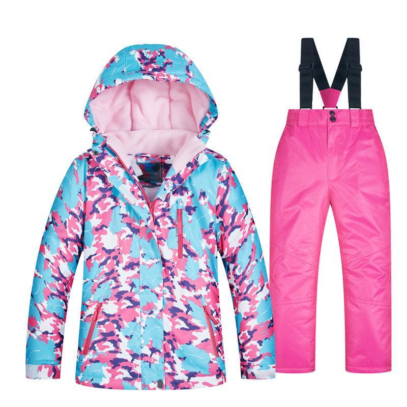 cheap for discount d23de 3922a Wasserdichte Kinder Skianzüge Super Warm 2018 Winter Outdoor Sportjacke  Ski- und Snowboardanzug Schneejacke für Mädchen Marken