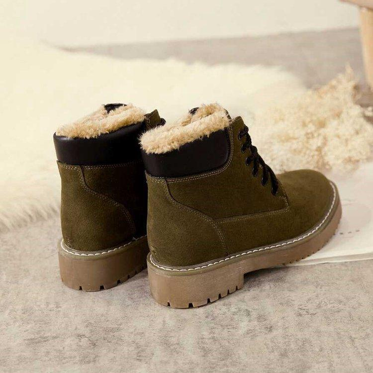 6a60fcab95 European Style Winter Boots Women Shoes Woman Botines Mujer 2018 Martin  Booties Korean Version Cotton Botas New Arrival British Platform Boots  Chelsea Boot ...