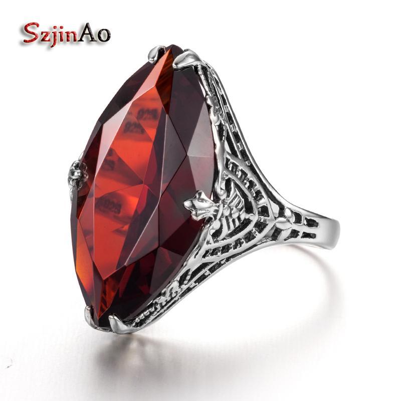 2018 Szjinao Fashion Big Oval Anchor Wedding Rings For Women