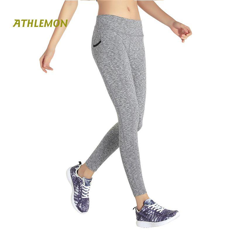 916db2542ea4 2019 Women Yoga Pants With Pockets High Waist Capri Fitness Leggings  Clothing Sexy Gym Running Tights Women Yoga Sport Leggins From Teawulong
