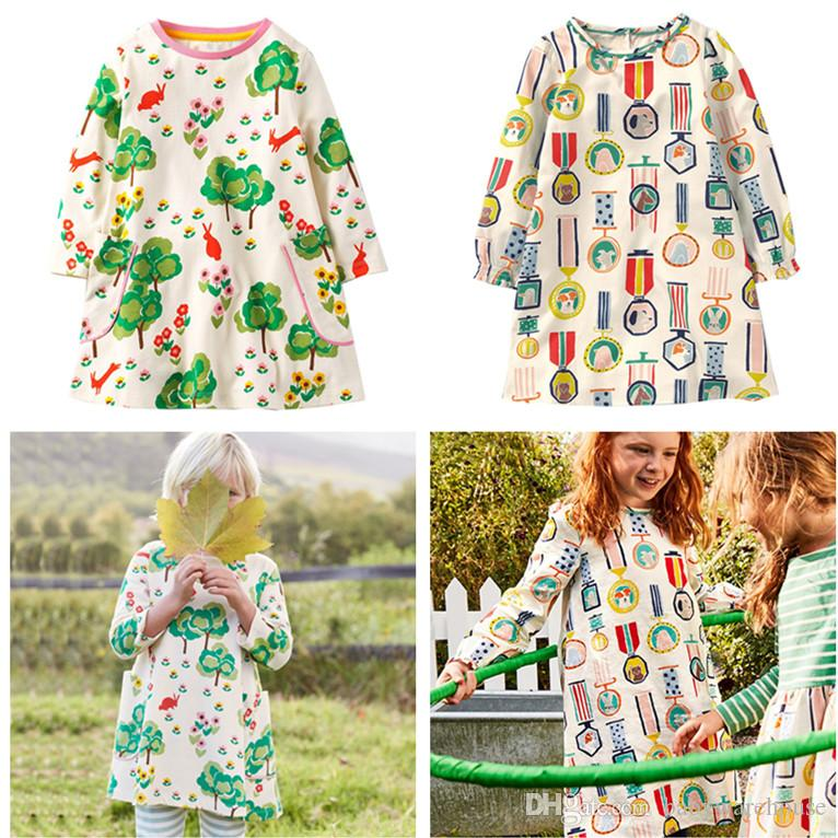 c403c3b6f Hot Toddler Girls Clothes 2018 Spring Autumn Long Sleeve Cotton Baby ...