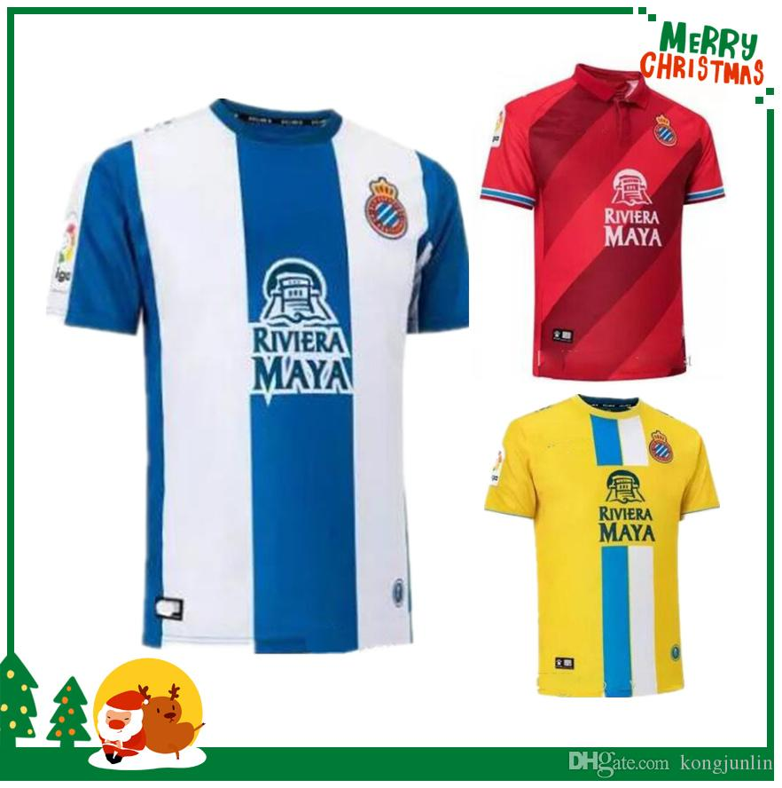 2019 18 19 RCD Espanyol Soccer Jerseys Home LOPEZ HERMOSO IGIESIAS DARDER  PIATTI BAPTISTAO HOME 2018 2019 JERSEY AWAY THIRD SHIRTS From Kongjunlin b82174f7f
