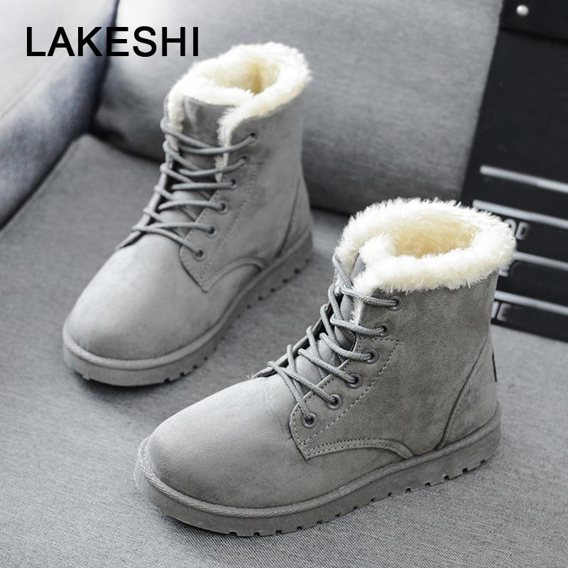 4f9969df53ab Women Boots Warm Winter Boots Female Fashion Women Shoes Faux Suede Ankle  Boots For Women Botas Mujer Plush Insole Snow Cowboy Boots Chelsea Boots  From ...