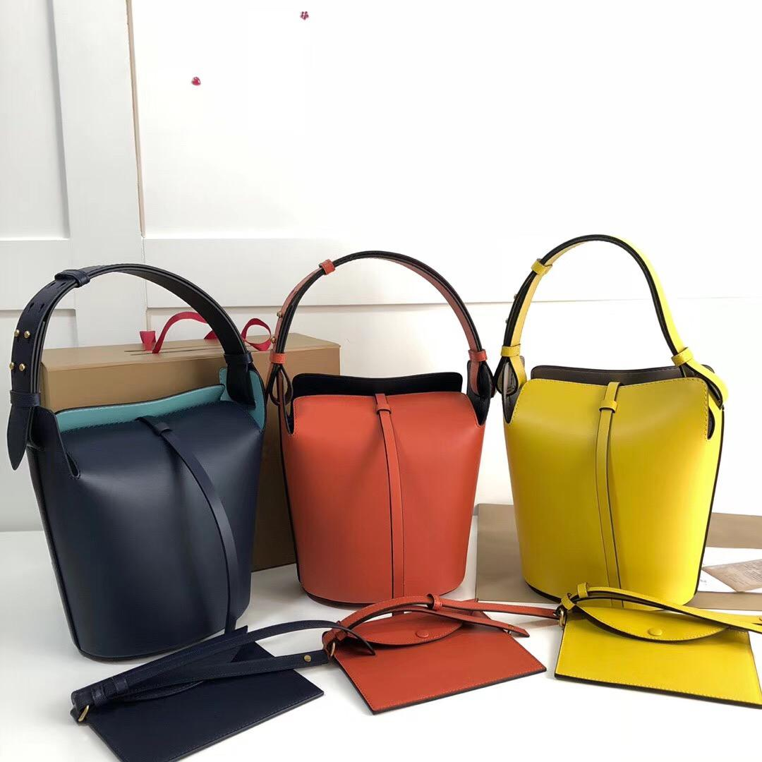 afe13a855fab Pure Color Bucket Handbags 9730 8200 2018 Brand Fashion Luxury Designer  Bags Famous Women Shoulder Bag Bagsdesigner Calf Leather 26cm 3AA Luxury  Bags ...