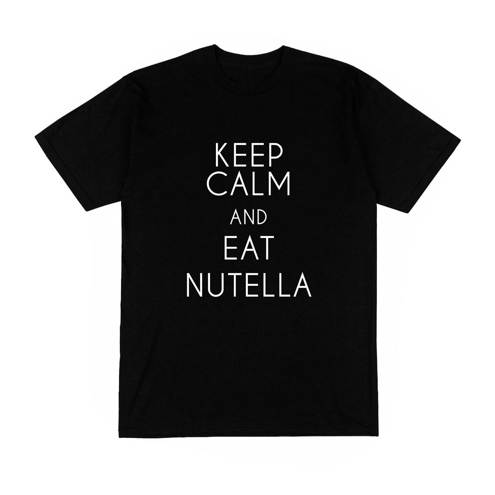 Camiseta Homme Monsieur Garde Ton Calme Mange Du Nutella Frase Humor Divertido