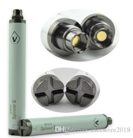 E cigs Elektronik sigara ego atomizör için Vizyon Spinner 2 II 1650mAh Pil Ego büküm 3.3-4.8V VISION2 değişken gerilim vv pil