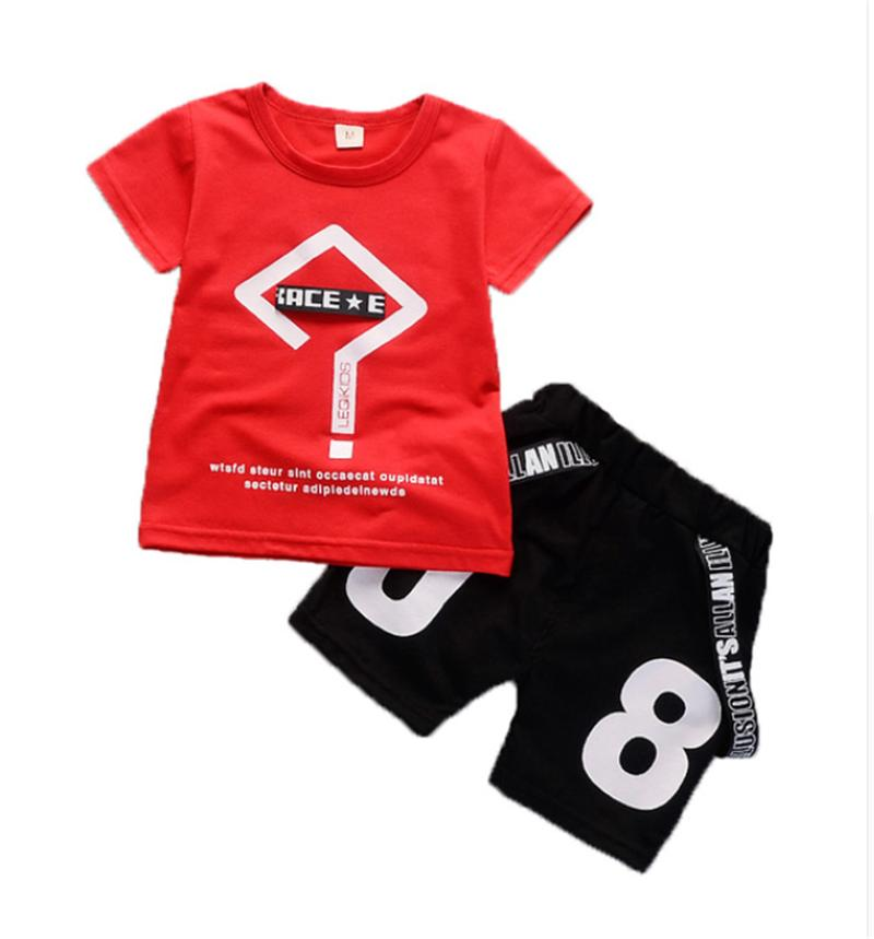 e943a877e 2019 Boys Clothing Sets Summer Children Boys Tops T Shirts+Shorts Clothes  Kids Boys Sport Suit For Baby Clothing From Fashionchildstore, $14.06 |  DHgate.Com