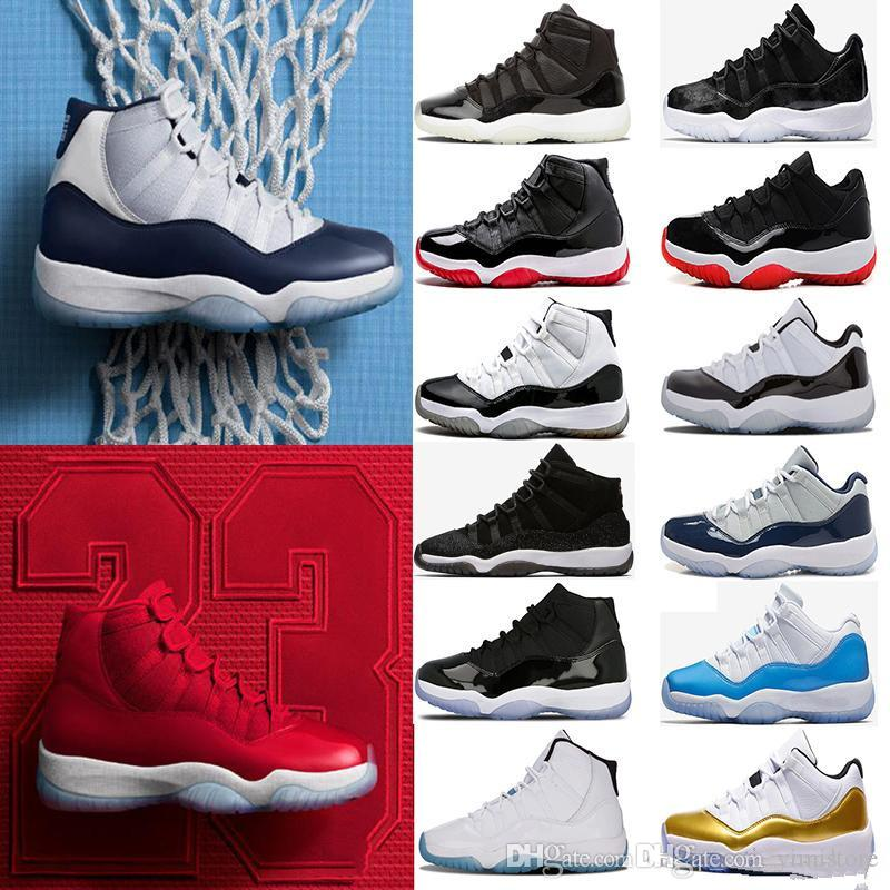 cc484ebfd4a480 2018 11 Prom Night Cap And Gown Gym Red Chicago Bred Midnight Navy WIN LIKE  82 UNC Space Jam 45 Basketball Shoes 11s Cp3 Shoes Kids Sneakers From  Yimistore