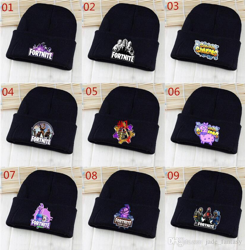 24eac44106b 2019 Fortnite Beanies 9 Styles Fortnite Battle Royale Hats Fortnite Llama Hats  Hip Hop Knitted Caps Unisex Winter Warm Skull Beanies 174 From  Jade fantasy