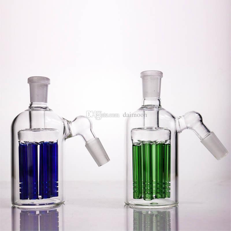 18mm aschfänger 8 arme baum 14mm aschfänger 90 45 grad für bongs glas wasser rohr bubbler kostenloser versand
