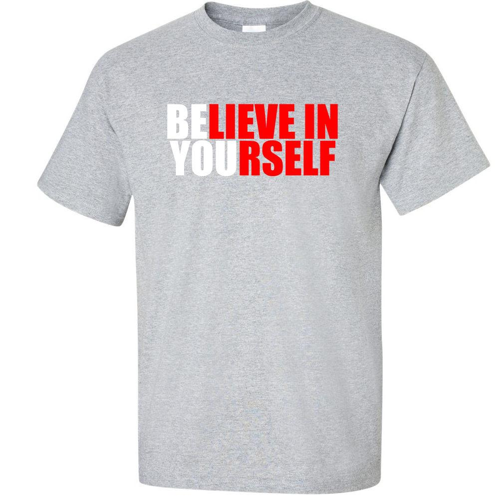 Motivational T Shirt Believe In Yourself Inspirational Dvd Graphic