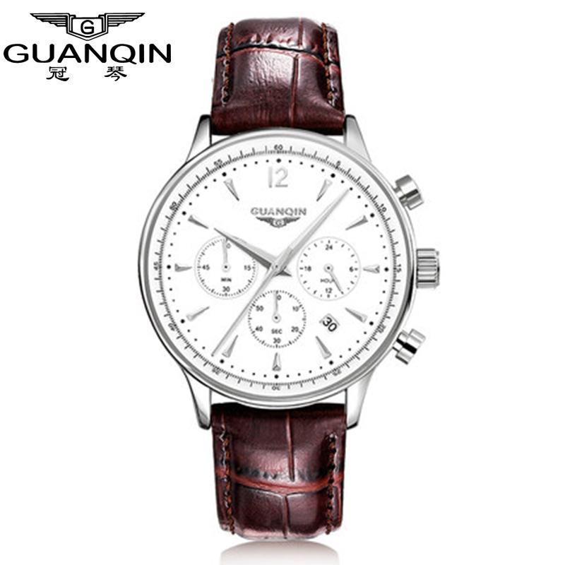 Bekomme Eins Gratis Guanqin Design Uhren Männer Top Marke Luxus Uhr Mode Lässig Automatische Mechanische Uhr Uhren Reloj Relogio Masculino Kaufe Eins Mechanische Uhren