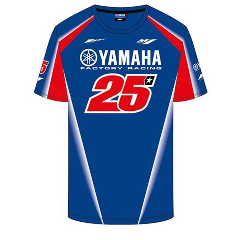 Carreras Fábrica Rápido La Para Motocicleta Maverick De 2018 Equipo Gp Vinales Camiseta Secado Ropa Moto Yamaha 25 Rjq534AL