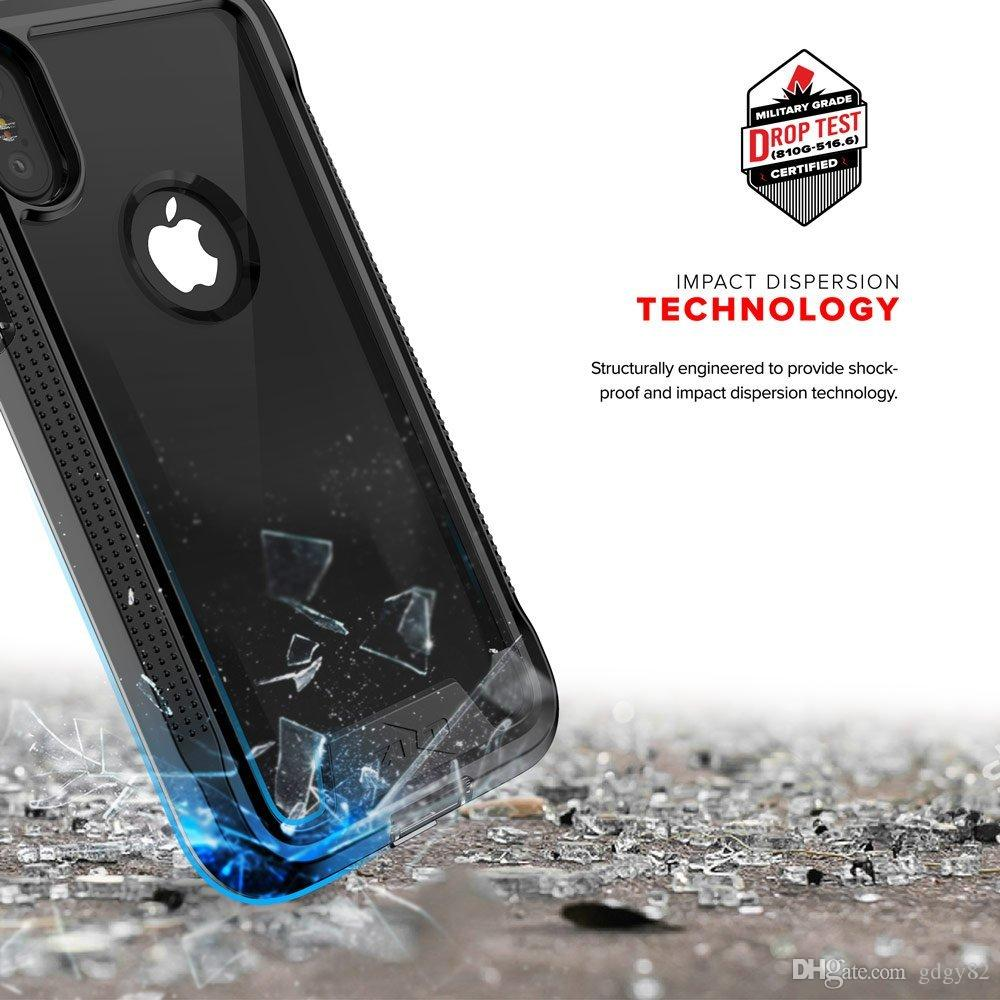 For iPhone X Case-[ION Series] Black [iPhone X Screen Protector]Transparent Clear[Military Grade Drop Tested]Three-tier protection case