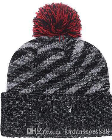 53b241a5aa Hot sale Beanie Sideline Cold Weather Graphite Official Revers Sport Knit  Hat All Teams winter Warm Knitted Wool Falcons Skull Cap