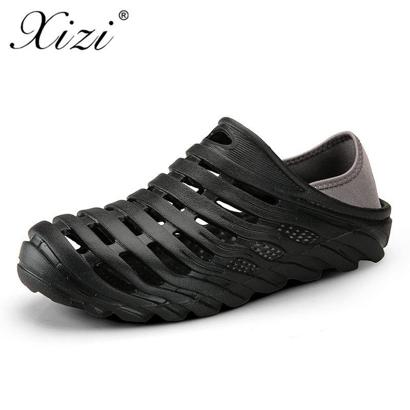 587025fa55f85 XIZI Men Breathable Hollow Lover Double Layer Mesh Shoes Unisex Flat Casual  Beach Sandalias 2018 New Summer Couple Hole Sandals Shoe Shop Cute Shoes  From ...