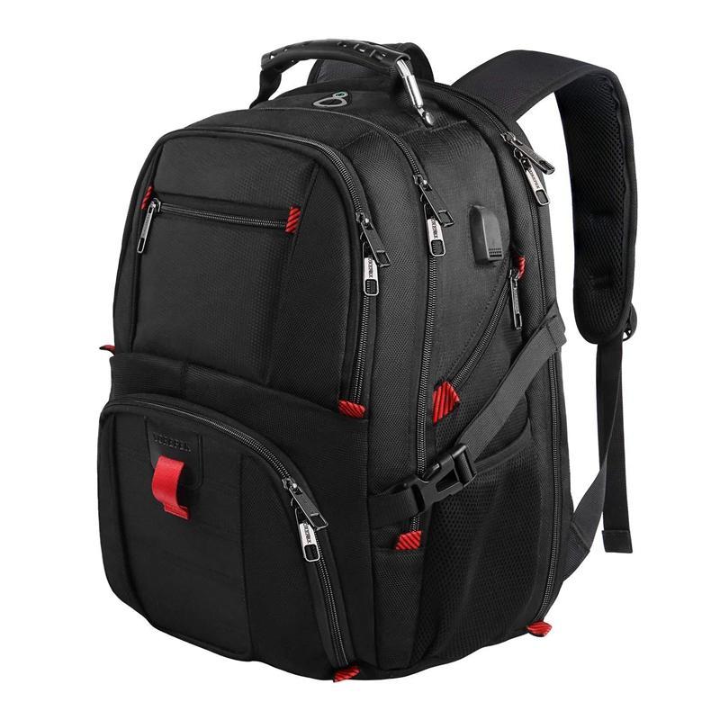 aaff20fab2f Men Multifunction 17 Inch Laptop Backpack Men Waterproof Large ...