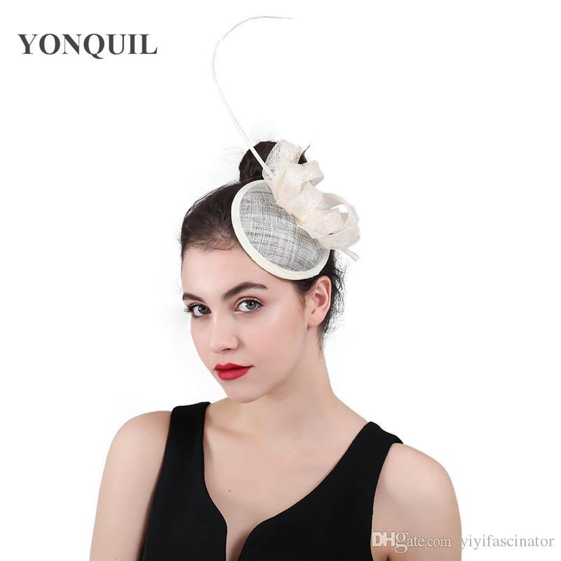 501a421143c9c Vintage Female Sinamay Fascinator Loops Hair Accessories Hair Clips ...
