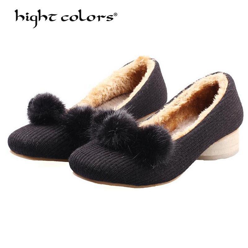 be7e7e68b0c1 2018 New Arrive Winter Women Pumps Fur Black Heels Flock Square Toe Autumn Platform  Heels Block Heel Shoes Wedding Shoes Men Sandals Best Shoes From ...