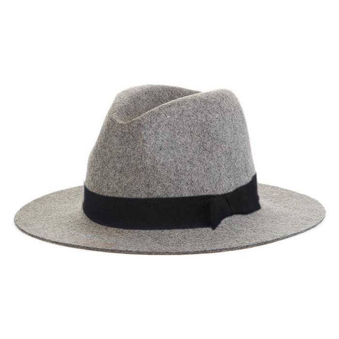 1f6e60ce 100% Wool Wide Brim Panama Cap Fedora Hat Fashion Outdoor Men Women ...