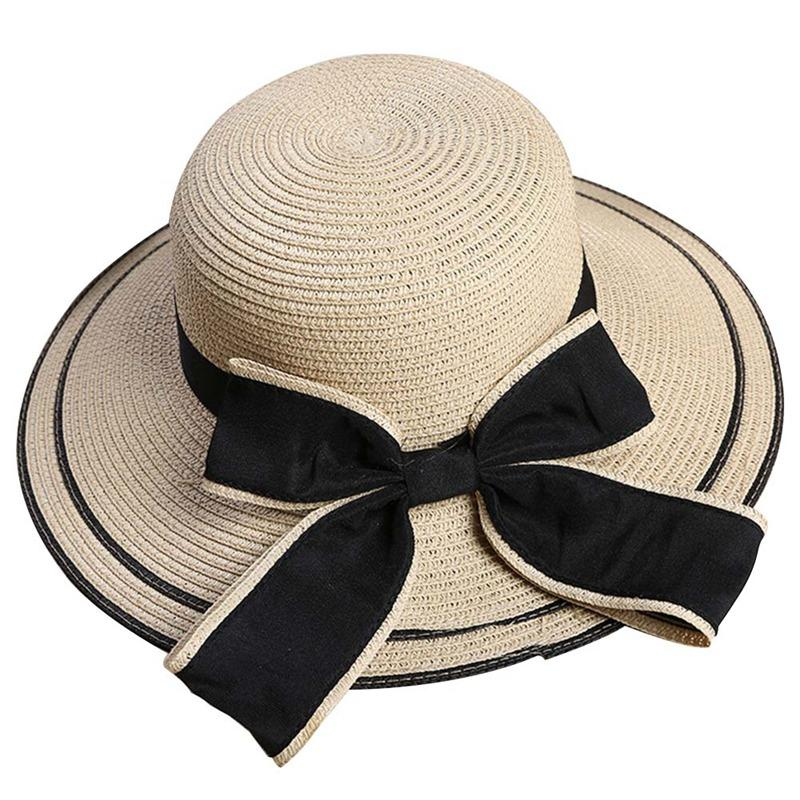 c93793e1af4 2018 New Fashion Style Ladies Summer Hats With Brim Newest Brand Straw Hats  For Women Beach Sun Floppy Sun Hat Stetson Hats Cowboy Hats From Vintage66