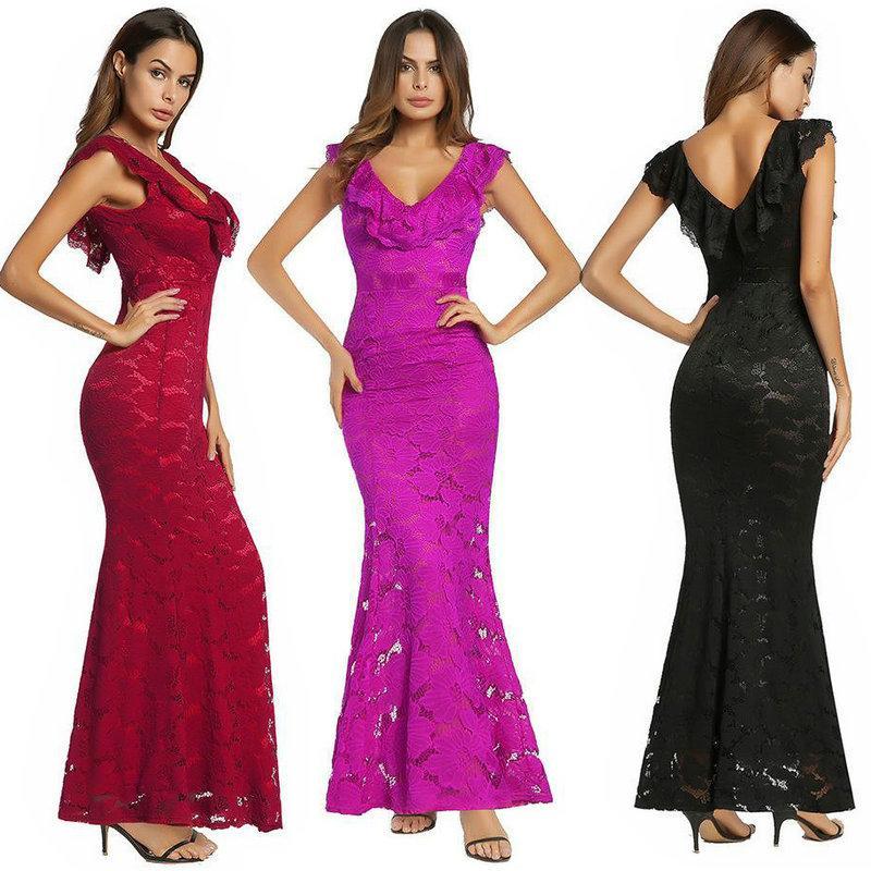 Online Cheap Fashion Sexy Lace Dress 2018 Spring Women\'S Dress Party ...