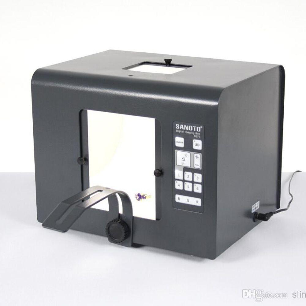 110-240 فولت 4000LUX sanoto b270 led rgb التصوير الرقمي مربع مصغرة الصور ستوديو التصوير ضوء مربع الفوتوغرافي softbox للمجوهرات