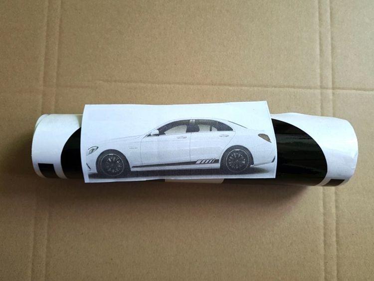 YENI 2 adet / takım Edition Oto Yan Etek Dekorasyon Sticker Mercedes Benz C Sınıfı W205 C180 C200 C300 C350 C63 AMG