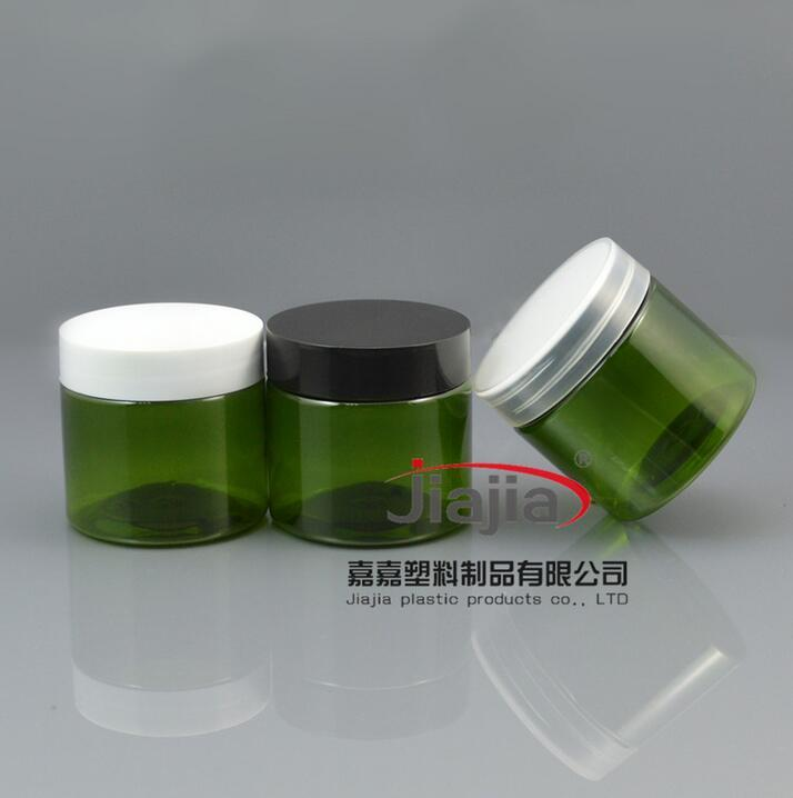 50ml Pill Container Plastic Medicine Box,50g green PET jar with white/black/clear lid,50g green Jar Food Grade Material PET Jar