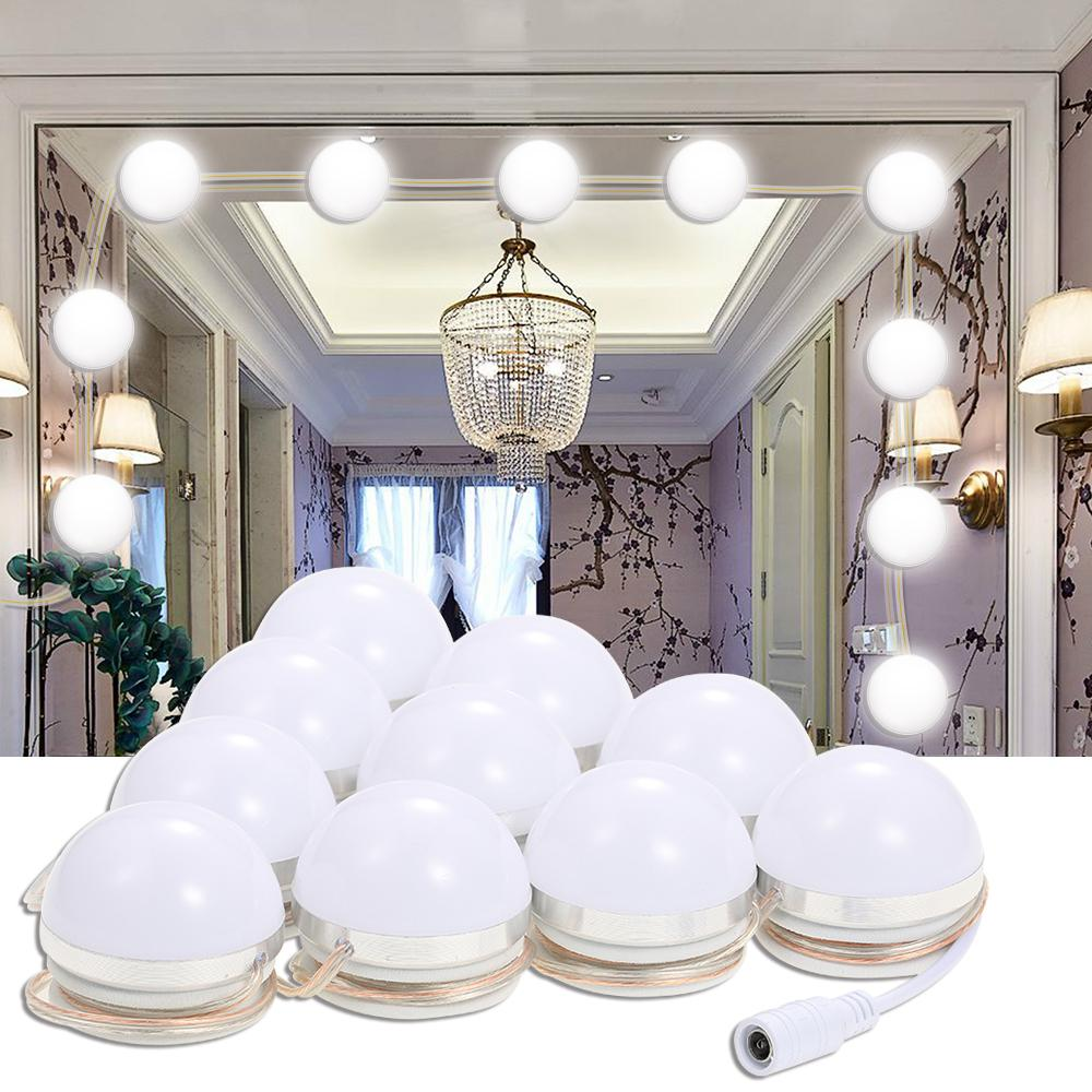 Makeup Mirror Vanity LED Dimmable Light Bulbs Kit With Dimmer Power Supply Plug Lighting Fixture Strip Touch Control DIY Lamp Bathroom Mirror With Lights ...
