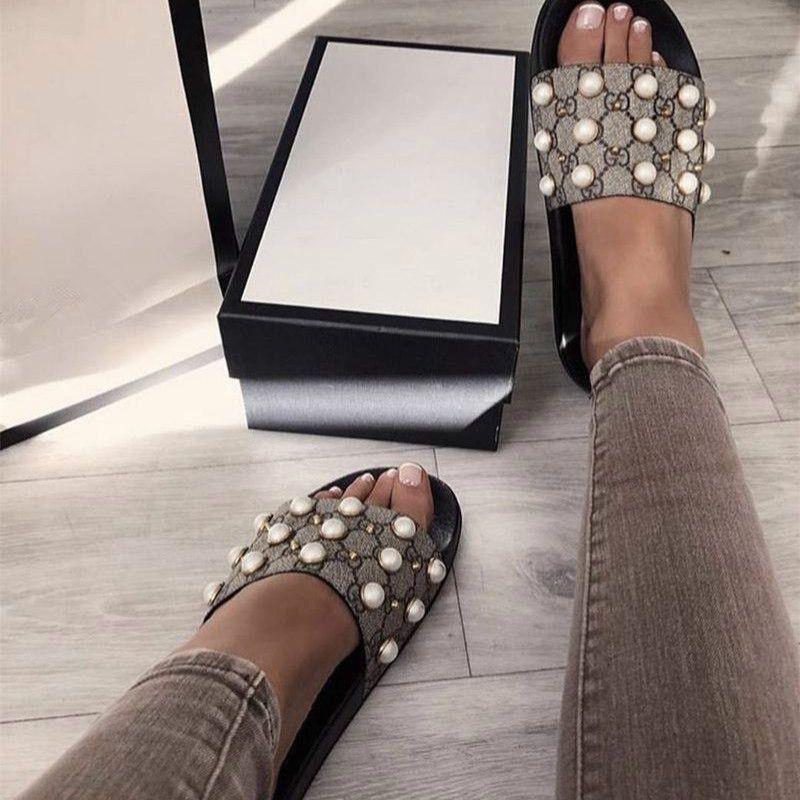 a4fe6456a17 2018 Women Sandals Designer Slides Brand Fashion Striped Sandals Medusa  Scuffs Causal Non Slip Summer Huaraches Slippers Flip Flops Slipper Wedge  Shoes ...