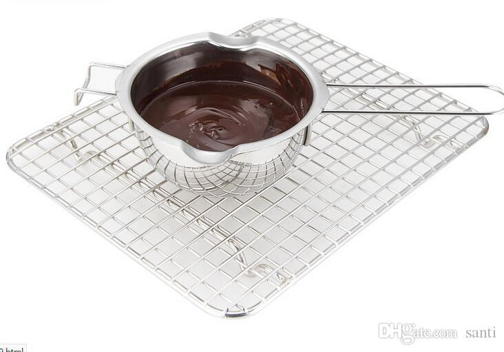 Neue Edelstahl-Schokoladenschmelztopf Doppelkessel-Milchschale Buttersüßigkeit Wärmer Backbackenwerkzeuge
