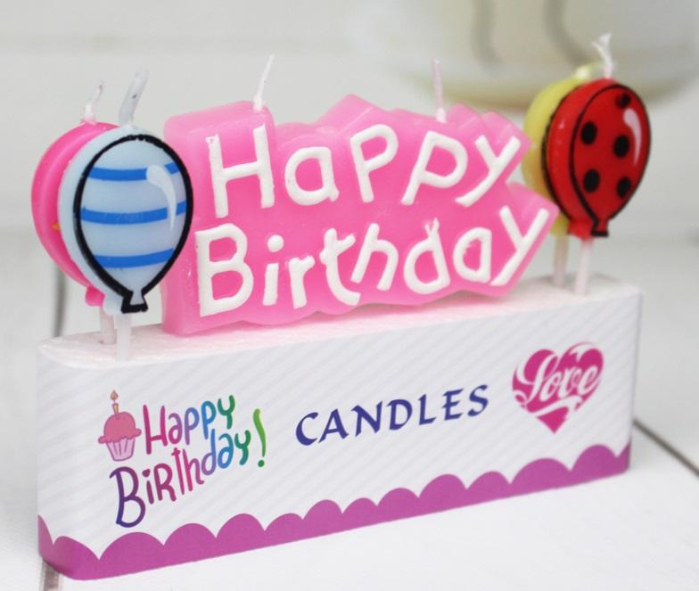 Balloon Birthday Candles Multicolor Happy Letters For Party Time Special Day Funny UK 2019 From Daisy433