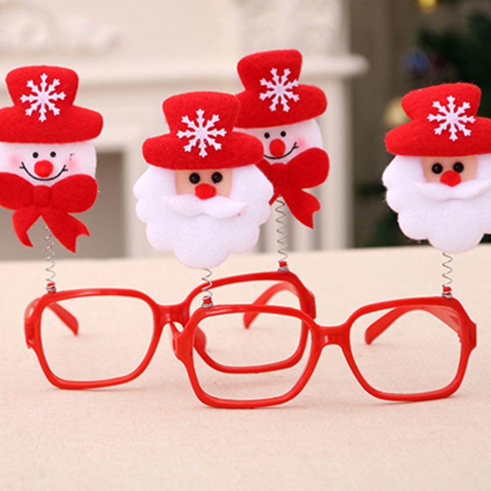 Christmas Frame Glasses Ornaments Pupazzo di neve Occhiali Caus Occhiali da sole bambini adulti Regalo di Natale Decorazioni feste Puntelli