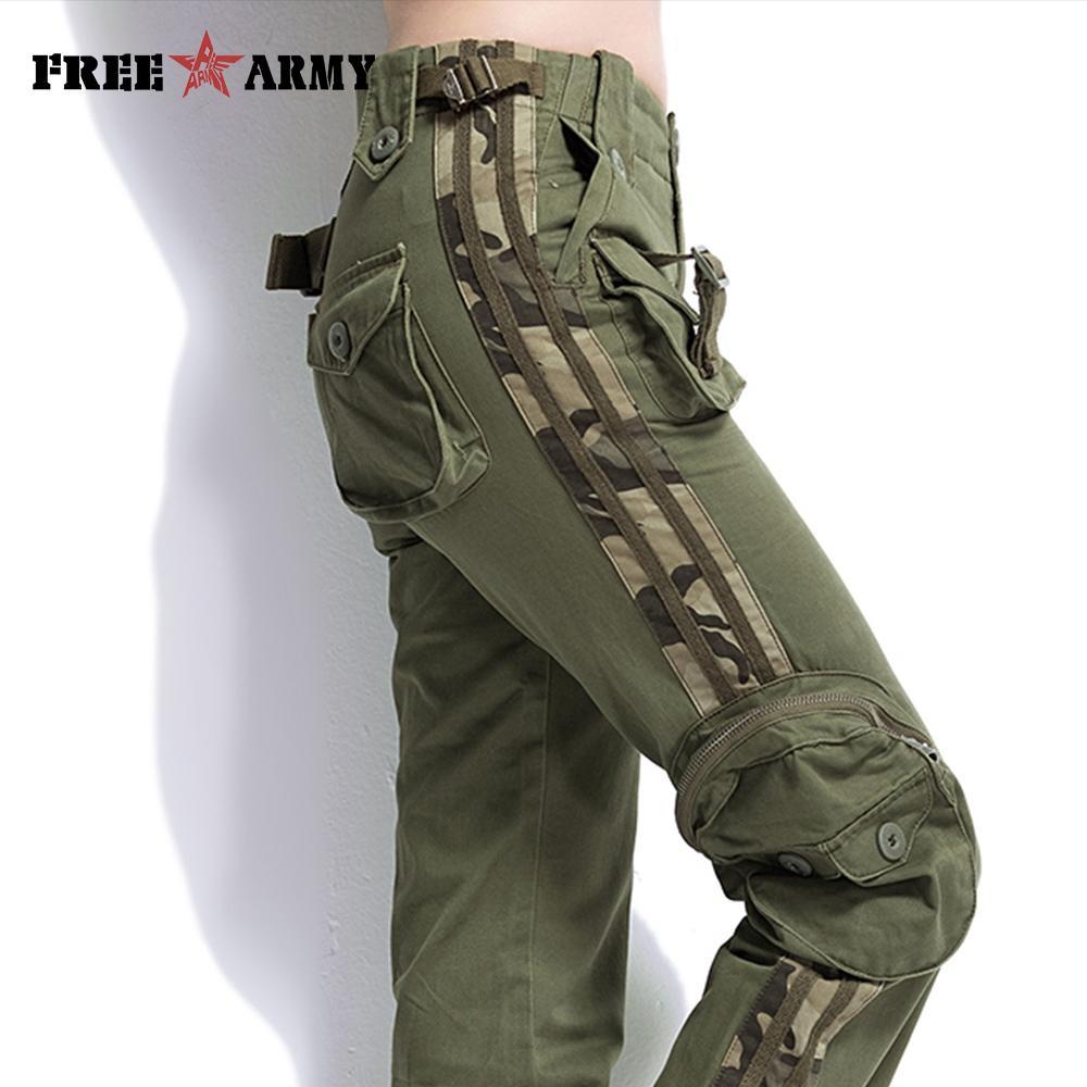 bd19920dd4ba0 2019 Brand Plus Size Unisex Cargo Casual Jogger Pants Women S Military Army  Green Pant Camouflage Sweatpants Tactical Pants Khaki From Zengfashion