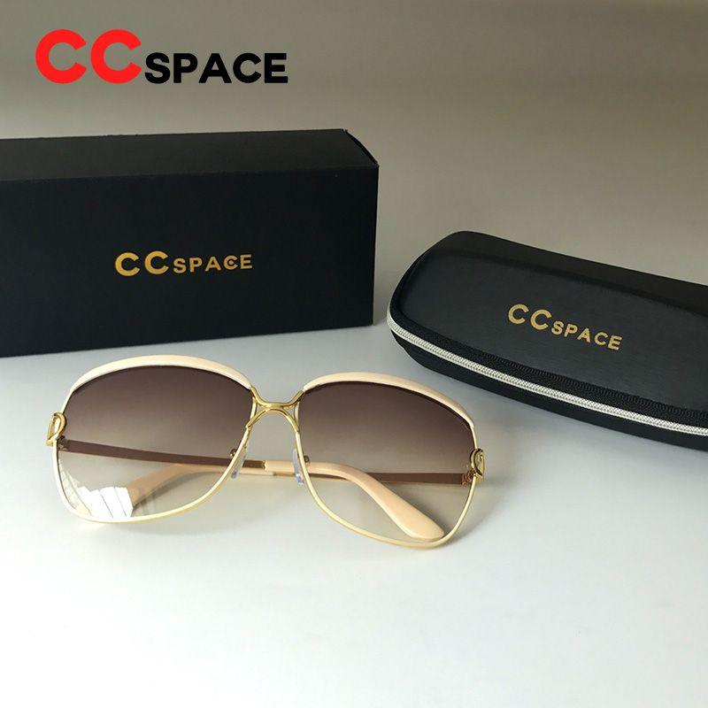 Ccspace Metal D Frame Sun Glasses Women 2018 Shades Exquisite Craft ...