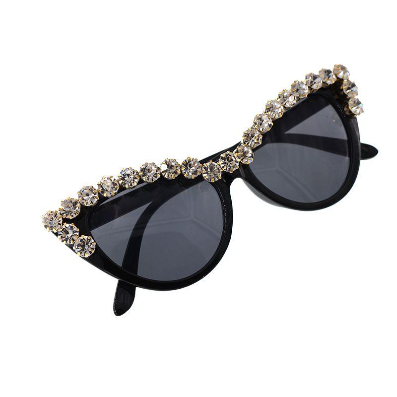 9adc10b1e7 Fashion Women Cat Sunglasses Silver Beads Decoration Retro Sunglasses Bling  Rhinestones Men Sun Glasses Vintage Shade NX Baby Sunglasses Designer  Eyeglasses ...