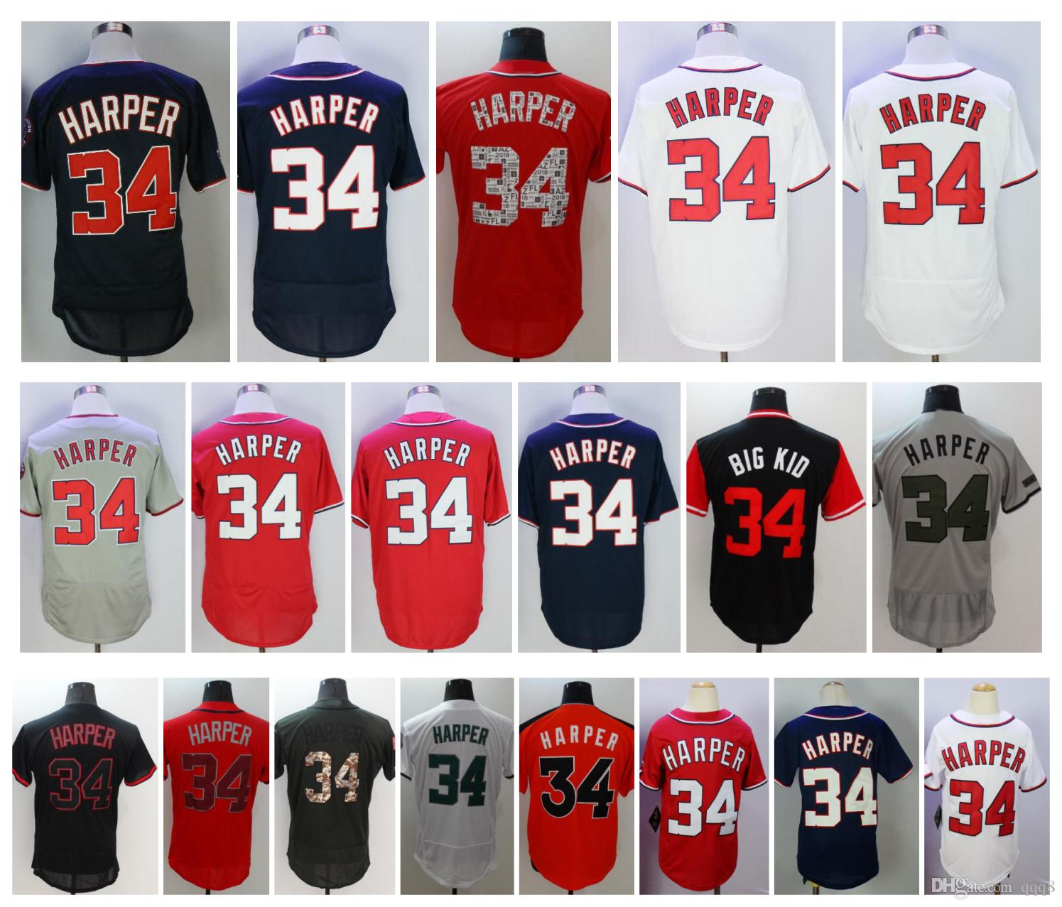 detailed look 140f8 24a13 ebay bryce harper cool base jersey f93fc acb68