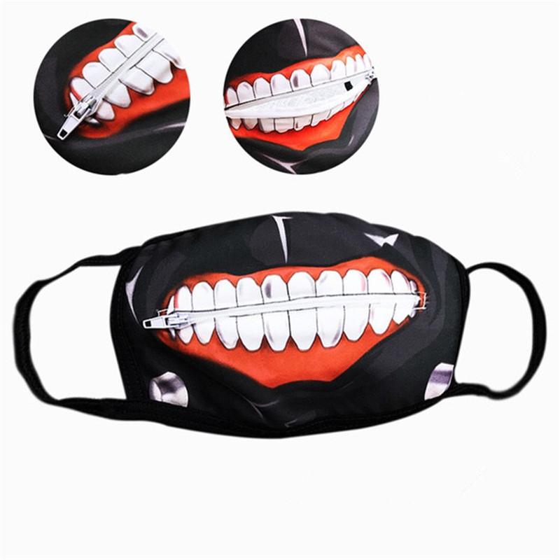 d58889c5c 2019 Cartoon Cycling Face Mask With Zip Tokyo Ghoul Masks Kaneki Outdoor  Cotton Mask Blinder Anime Dust Proof For Cycling Hiking From Fwuyun